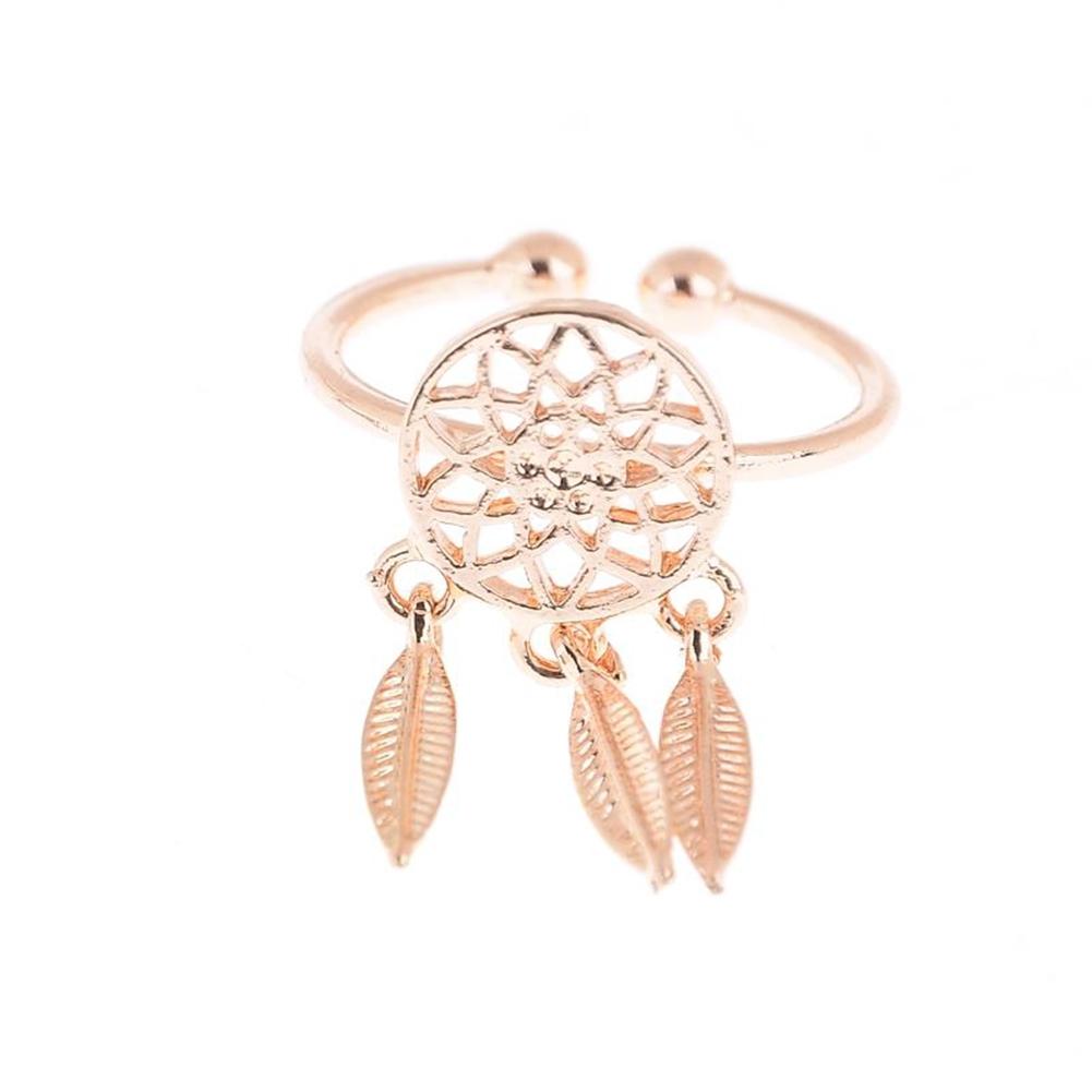 1 Pcs Dreamcatcher Ring Feather Charm Pendant Dream Catcher Wish Ring Adjustable JR14518 11