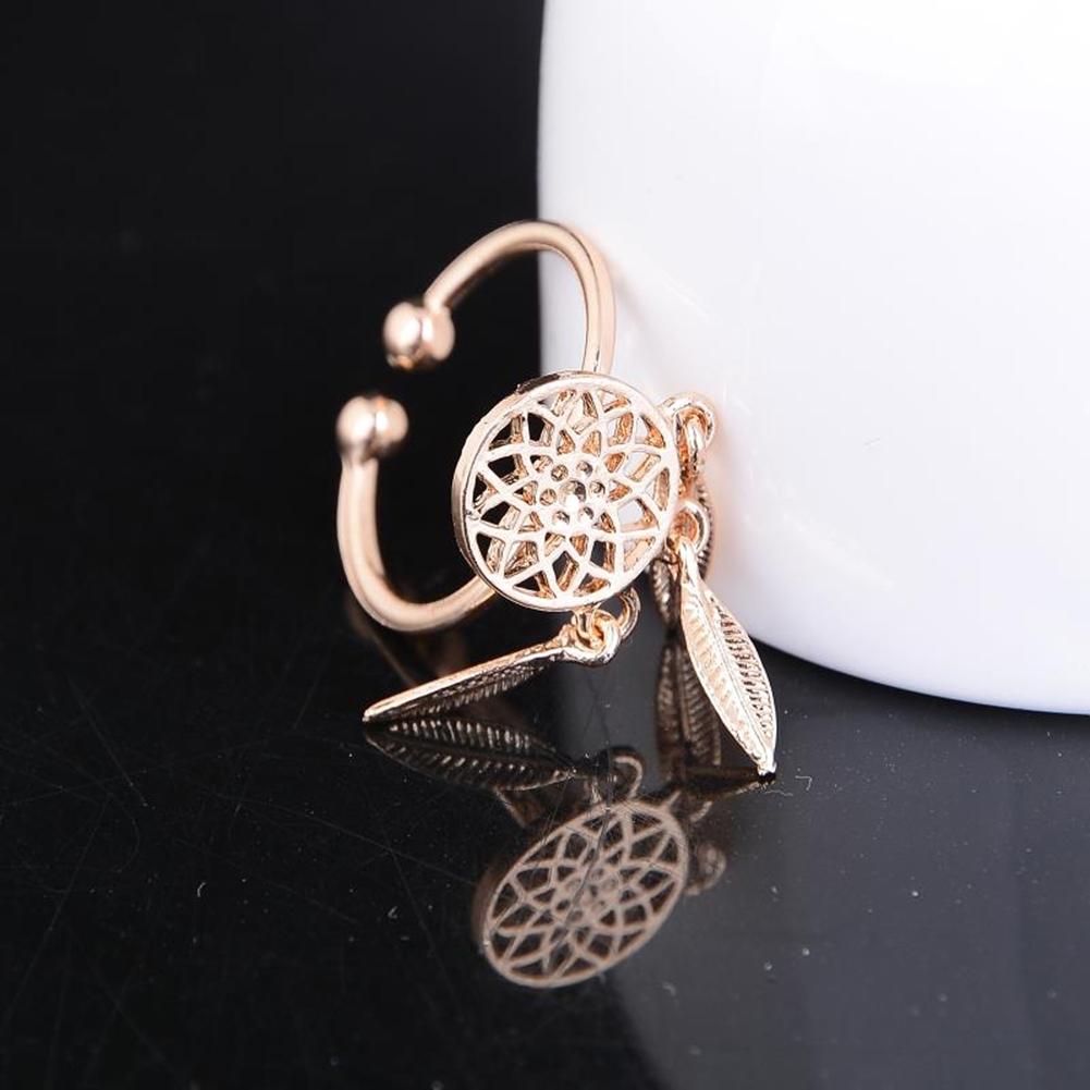 1 Pcs Dreamcatcher Ring Feather Charm Pendant Dream Catcher Wish Ring Adjustable JR14518 13