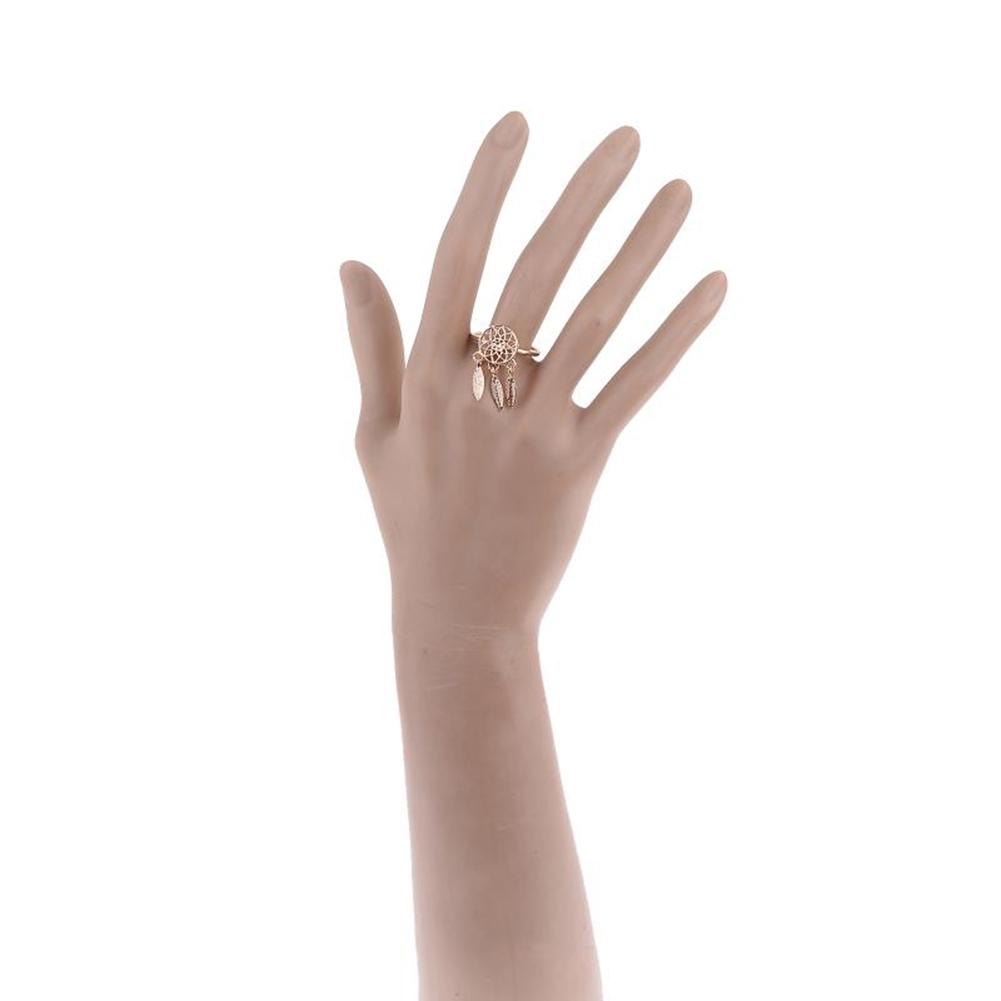1 Pcs Dreamcatcher Ring Feather Charm Pendant Dream Catcher Wish Ring Adjustable JR14518 14