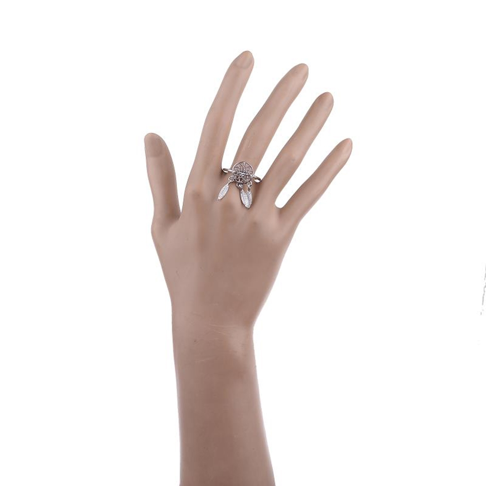 1 Pcs Dreamcatcher Ring Feather Charm Pendant Dream Catcher Wish Ring Adjustable JR14518 15