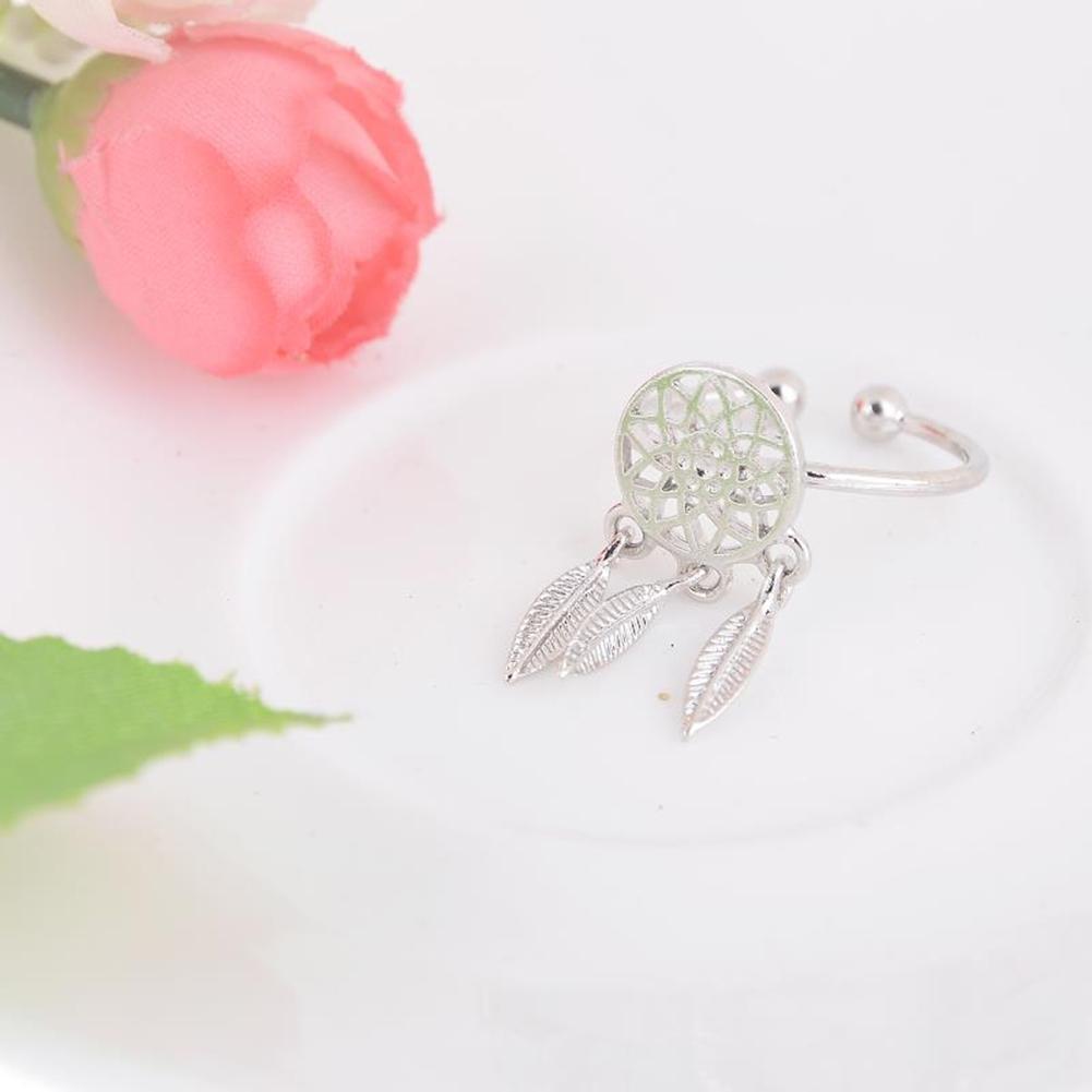 1 Pcs Dreamcatcher Ring Feather Charm Pendant Dream Catcher Wish Ring Adjustable JR14518 17