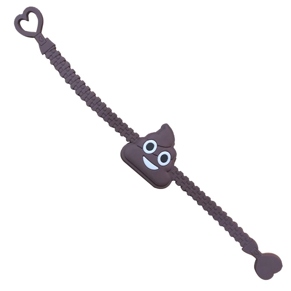 1PC Cartoon EMOJI Expression PVC Smile Face Bracelet JBA0309 3