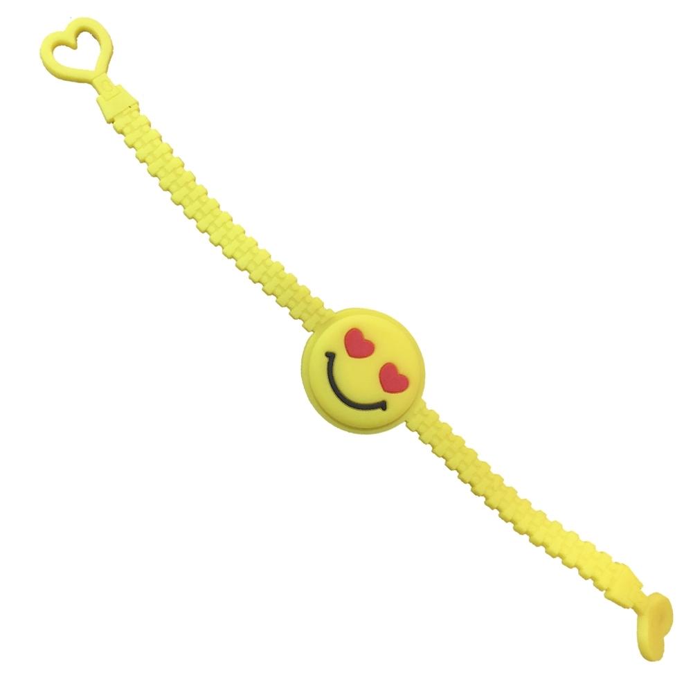1PC Cartoon EMOJI Expression PVC Smile Face Bracelet JBA0309 8