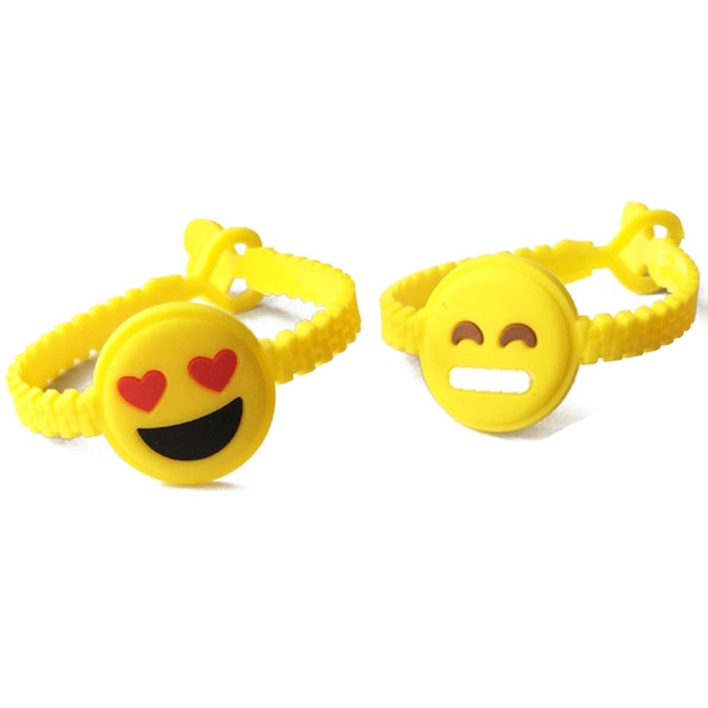 1PC Cartoon EMOJI Expression PVC Smile Face Bracelet JBA0309 9