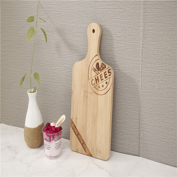 Food Safe Factory Price Kitchen Wooden Bamboo Paddle Cutting Boards Pizza Peel Boards 4