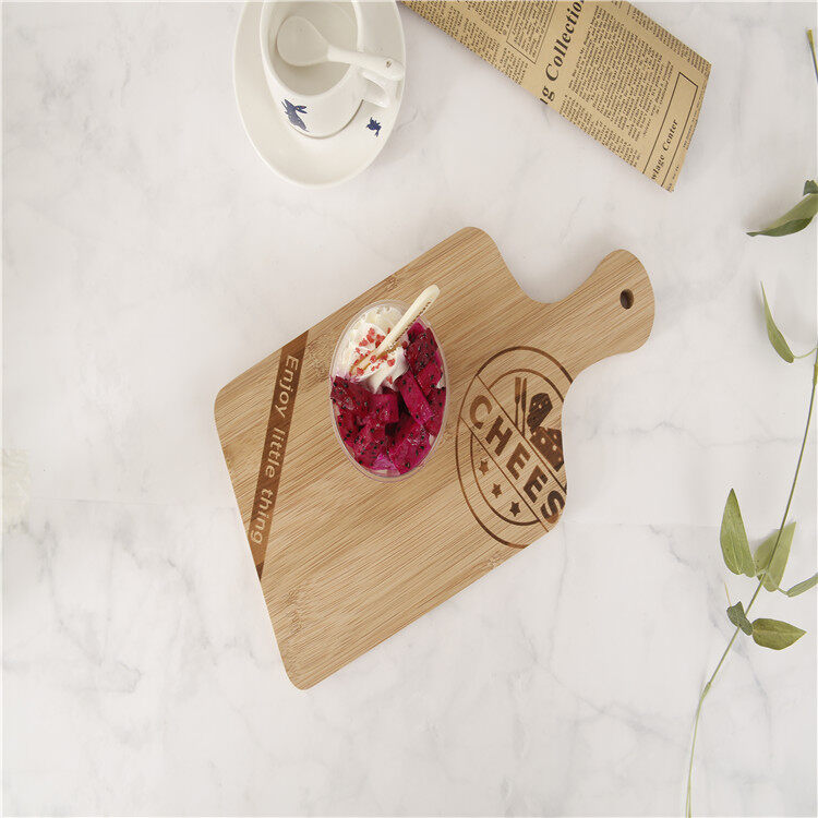 Food Safe Factory Price Kitchen Wooden Bamboo Paddle Cutting Boards Pizza Peel Boards 0