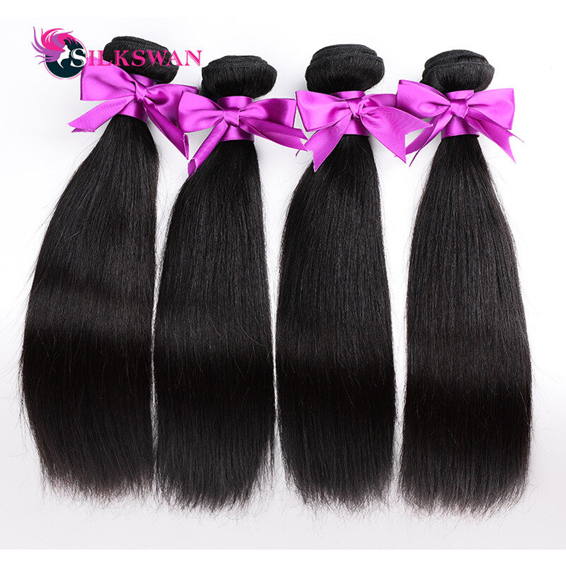 Silkswan Hair 7a Malaysian Virgin Straight Hair 3 Bundles 100 Human
