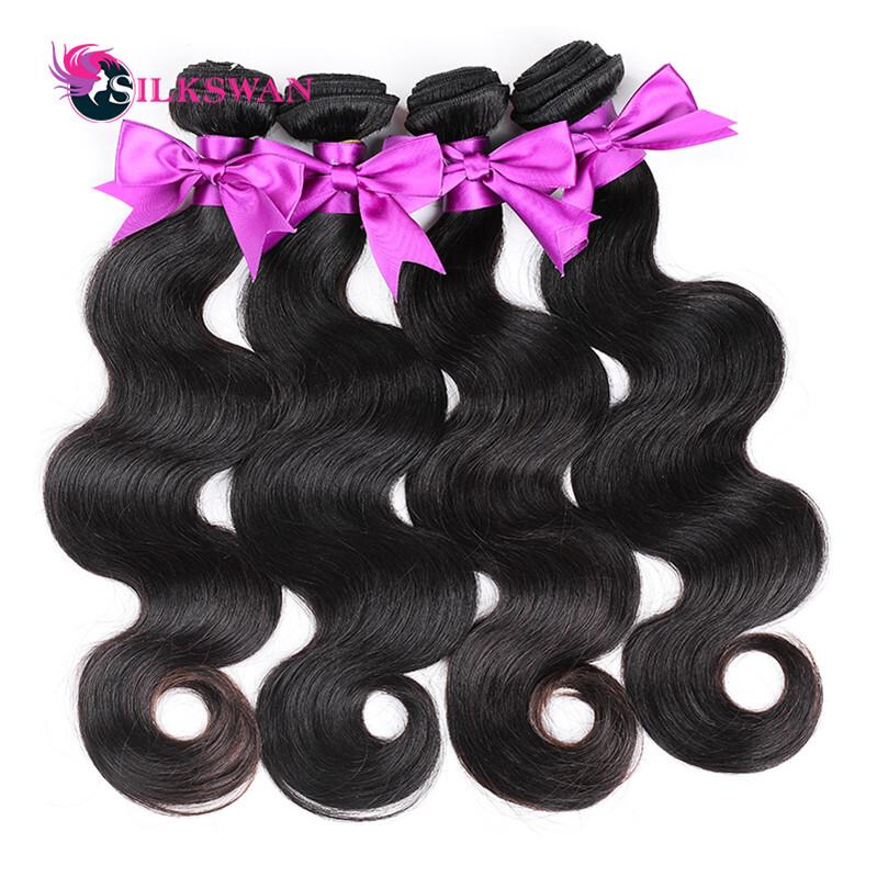 Brazilian Body Wave Hair 3 Bundles 1 Lot Hair Extensions Natural Color