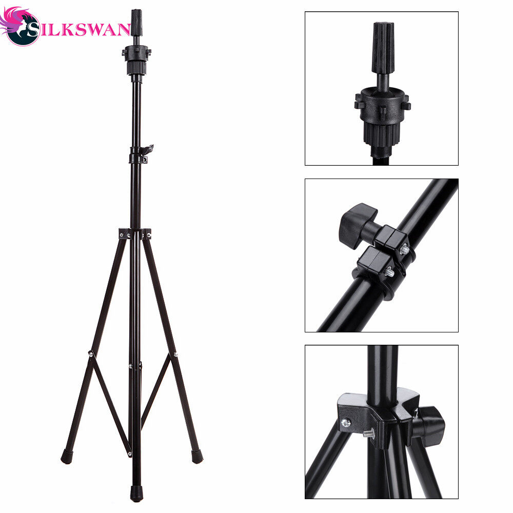 Salon Adjustable Wig Tripod Stand Hair Mannequin Training Head Holder Hairdressing Clamp Hair Wig Holder Tool 0