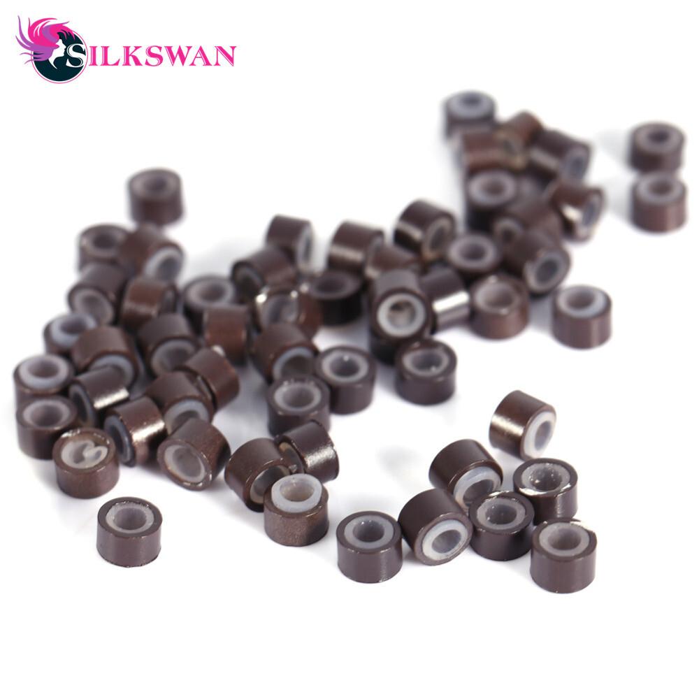 Silkswan Silicone Copper Tubes Microlinks Loop Rings Hair Extension