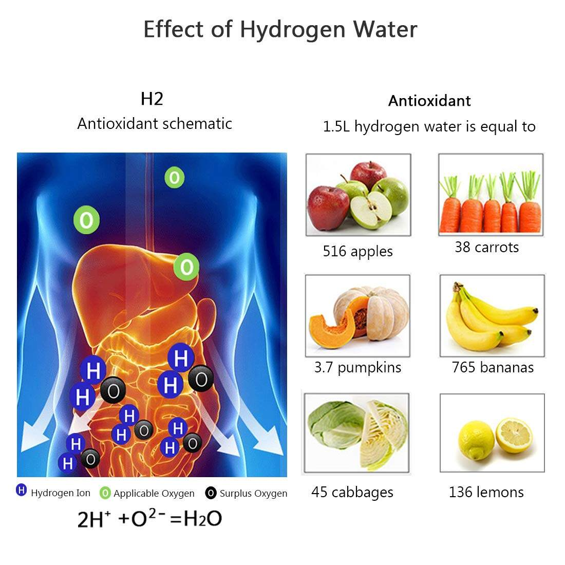 Hydrogen water maker machine