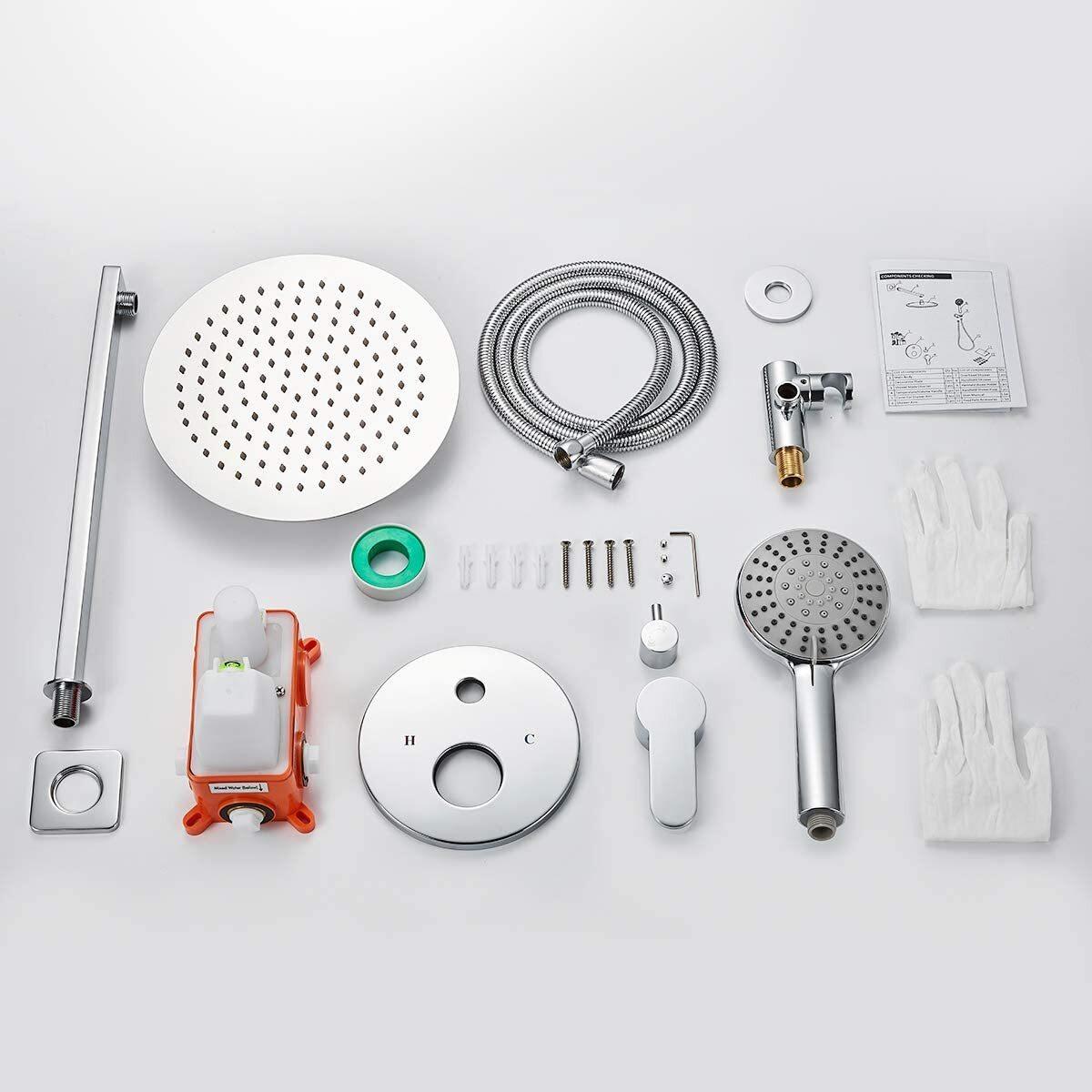 Bathroom Shower Faucet Sytstem, Rainfall Mixer Shower Combo Set ...