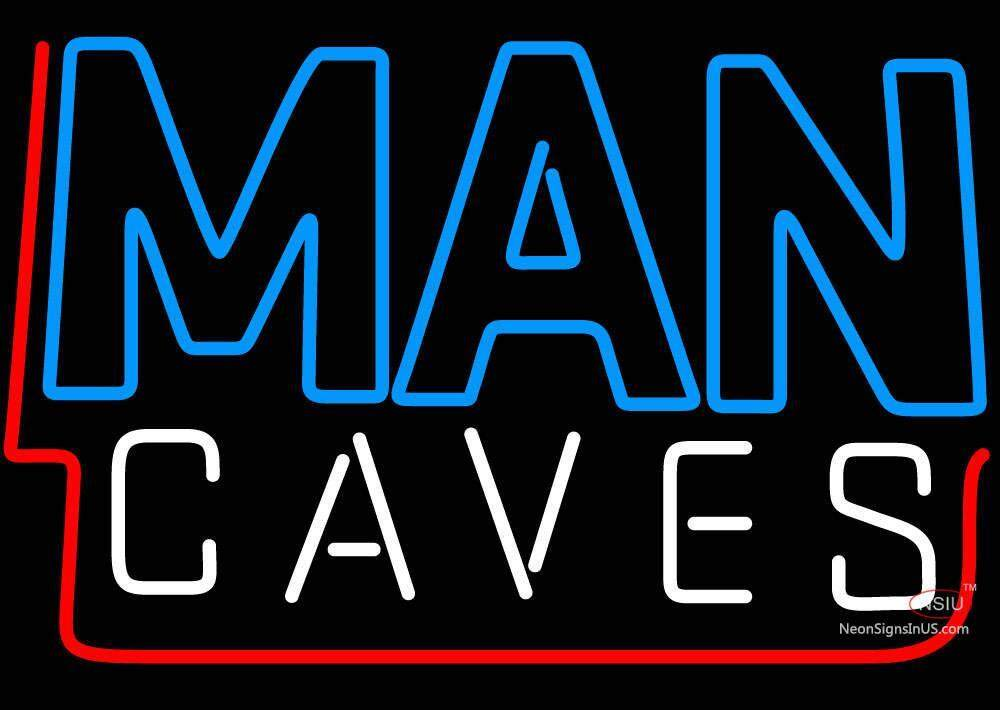 Man Cave Neon Signs Uk : Blue and white red border man cave neon sign