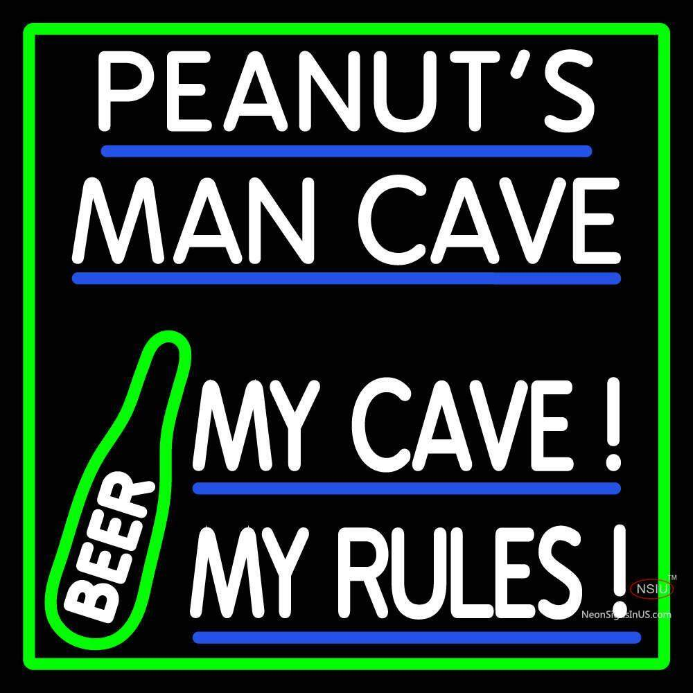 Man Cave Neon Signs Uk : Custom peanuts man cave beer neon sign