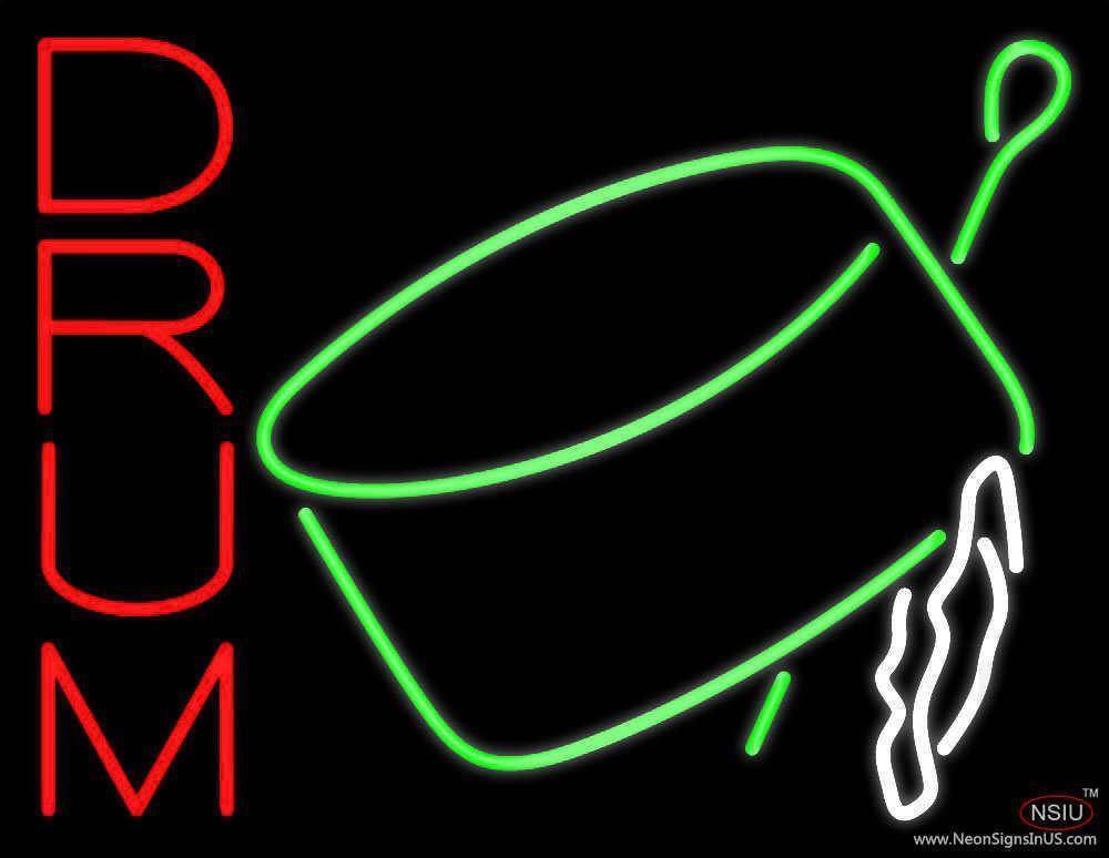 drum symbol real neon glass tube neon sign. Black Bedroom Furniture Sets. Home Design Ideas