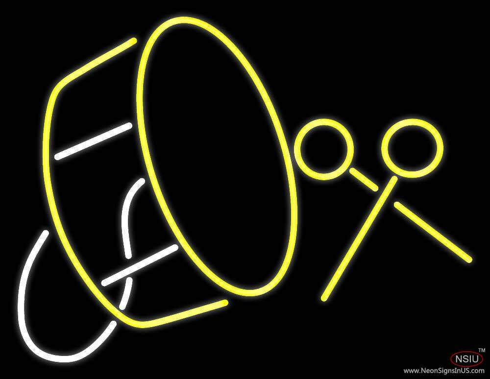 drum with stick real neon glass tube neon sign. Black Bedroom Furniture Sets. Home Design Ideas