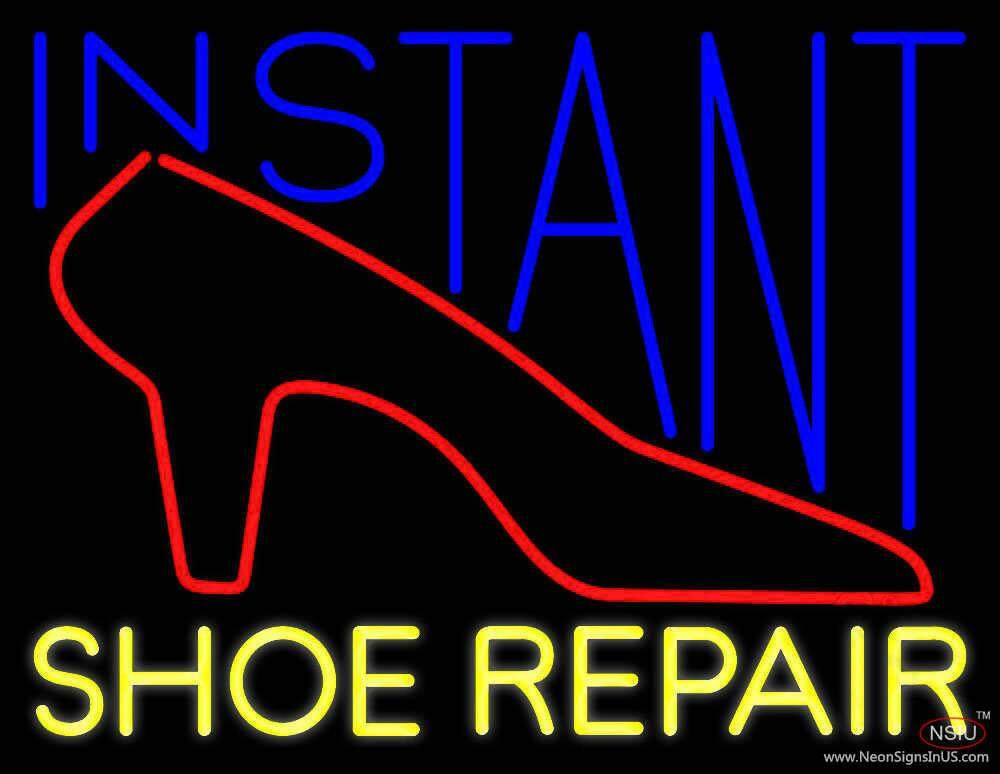 instant shoe repair real neon glass tube neon sign. Black Bedroom Furniture Sets. Home Design Ideas