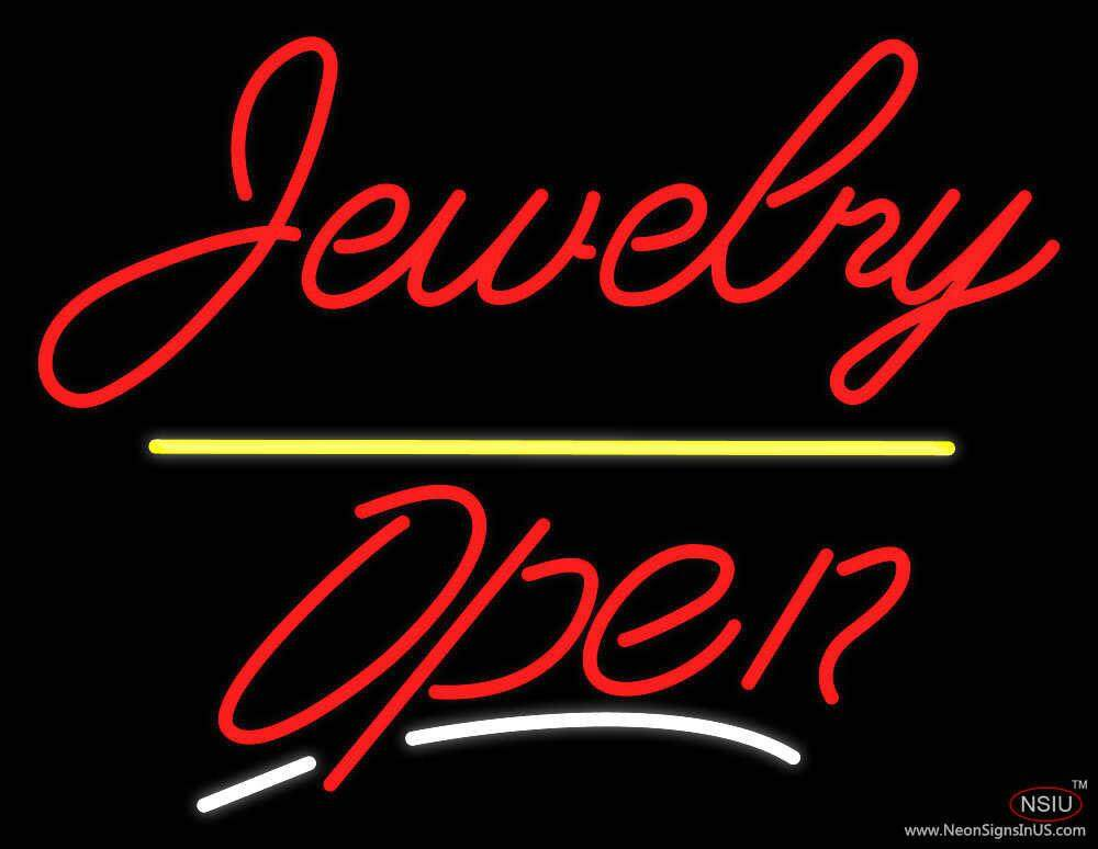 jewelry yellow line open real neon glass tube neon sign. Black Bedroom Furniture Sets. Home Design Ideas