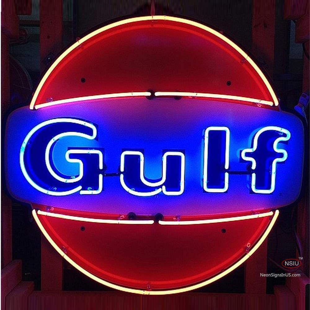 Neon Gulf Gasoline Neon Sign