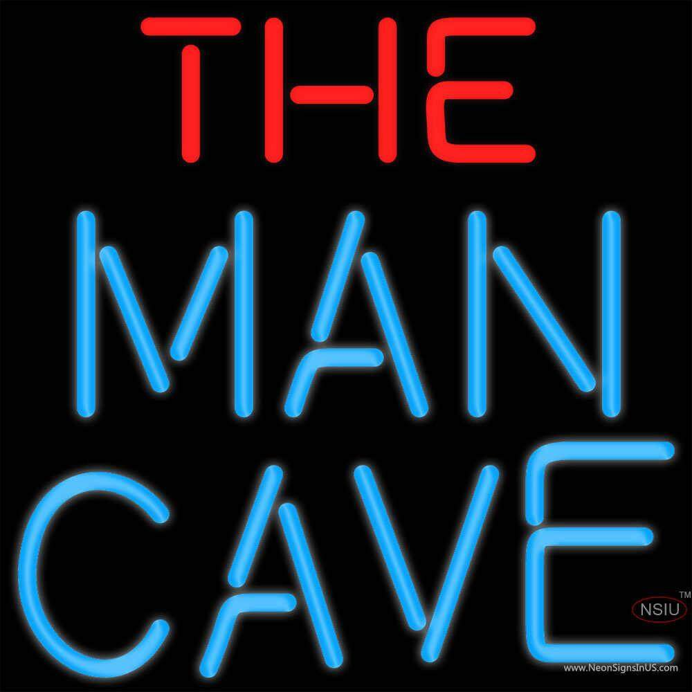 Man Cave Neon Signs Australia : Red and blue the man cave neon sign x