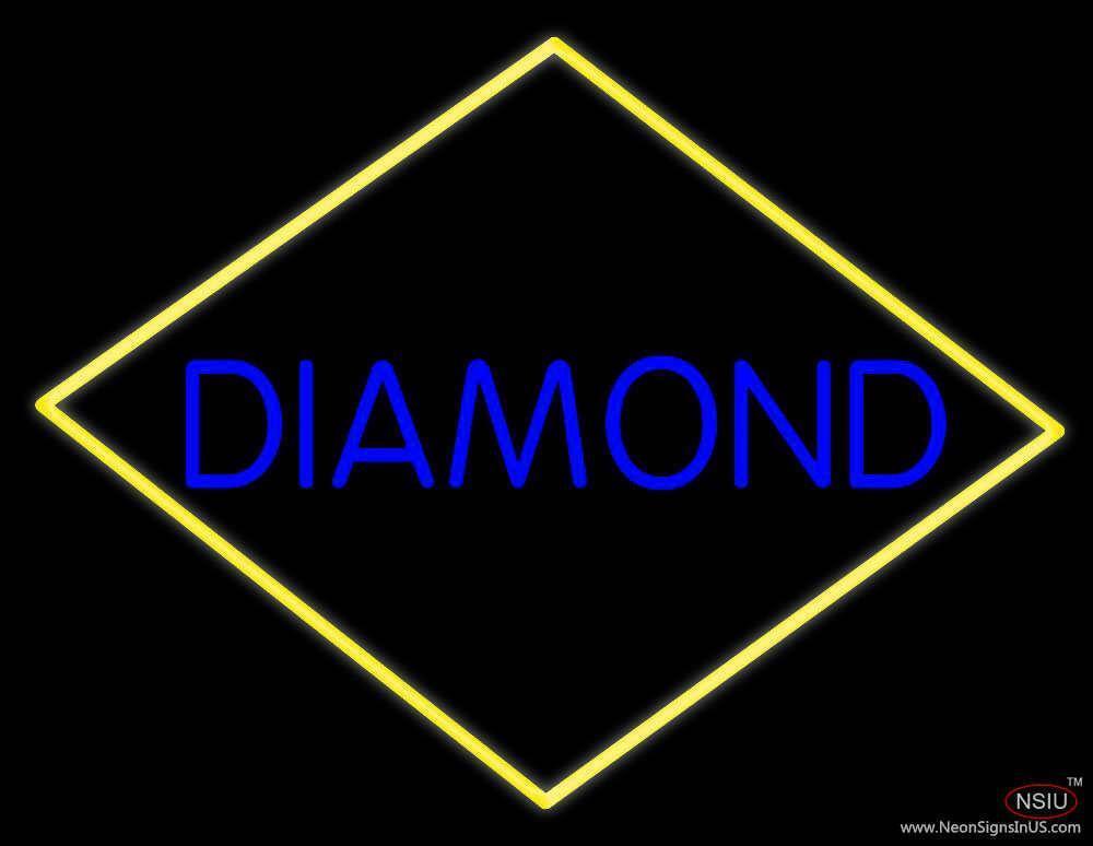 diamond block real neon glass tube neon sign. Black Bedroom Furniture Sets. Home Design Ideas