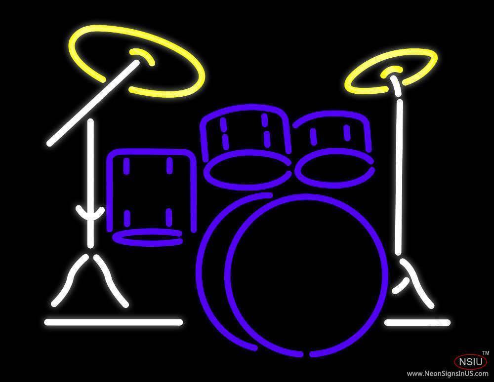 drum set real neon glass tube neon sign. Black Bedroom Furniture Sets. Home Design Ideas