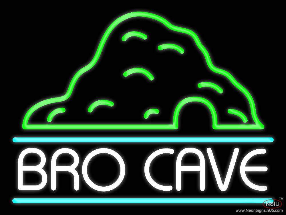 bro cave real neon glass tube neon sign. Black Bedroom Furniture Sets. Home Design Ideas