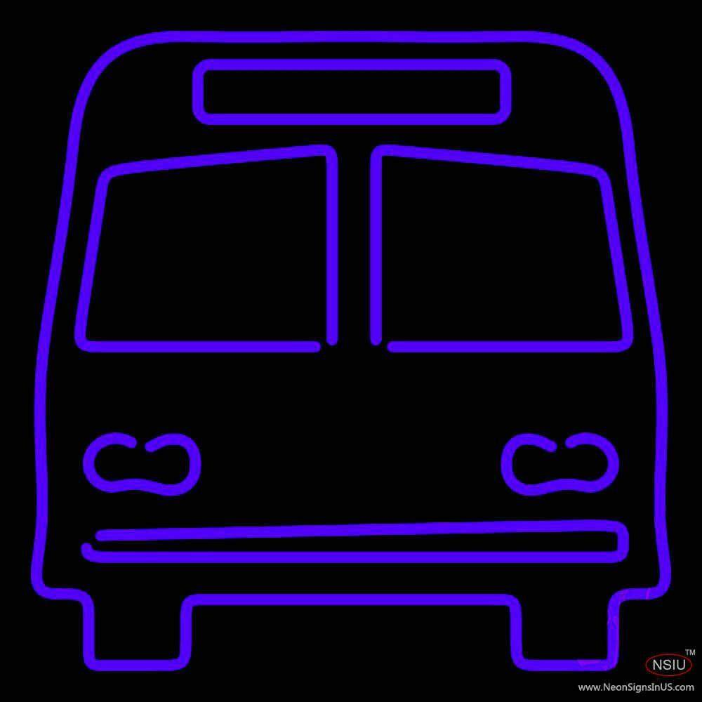 bus real neon glass tube neon sign. Black Bedroom Furniture Sets. Home Design Ideas