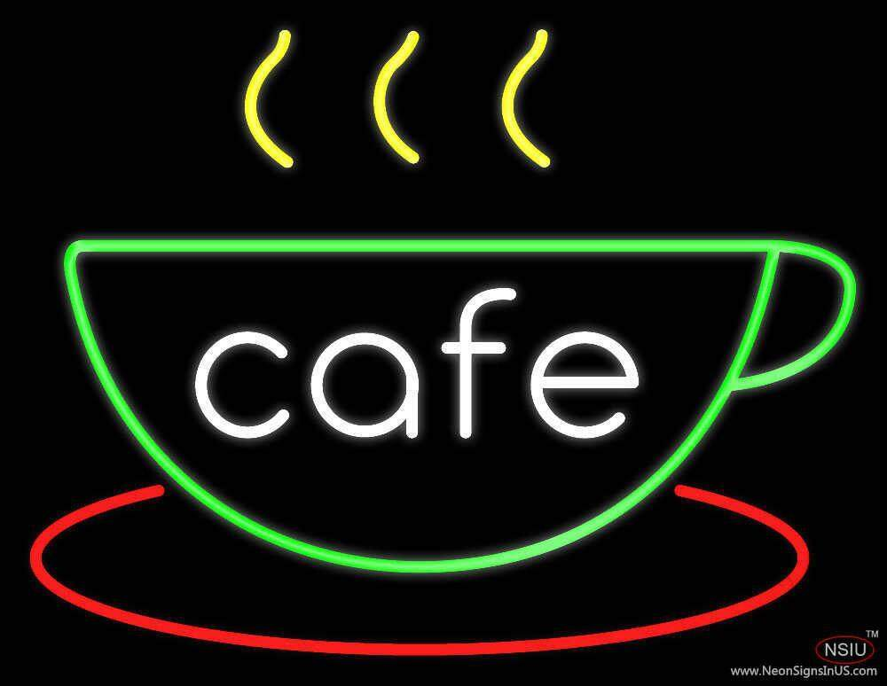 cafe cup real neon glass tube neon sign. Black Bedroom Furniture Sets. Home Design Ideas