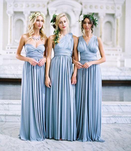 Ice Blue Bridesmaid Dress