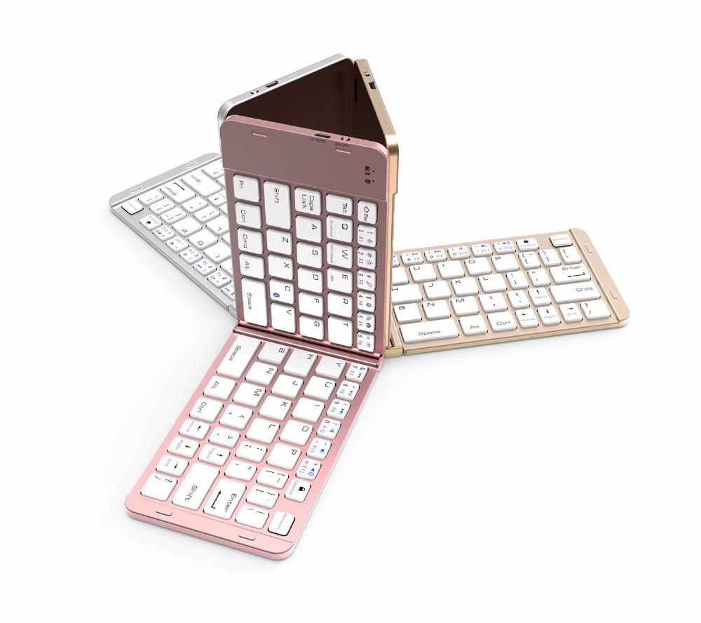 Bluetooth Wireless Keyboard Folding Slim Keyboard For Apple IOS Android Microsoft Windows