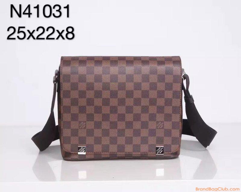 61dfb9a8c70 Louis Vuitton Crossbody bag District PM Damier Ebene Canvas LV Men  messenger Bags N41031