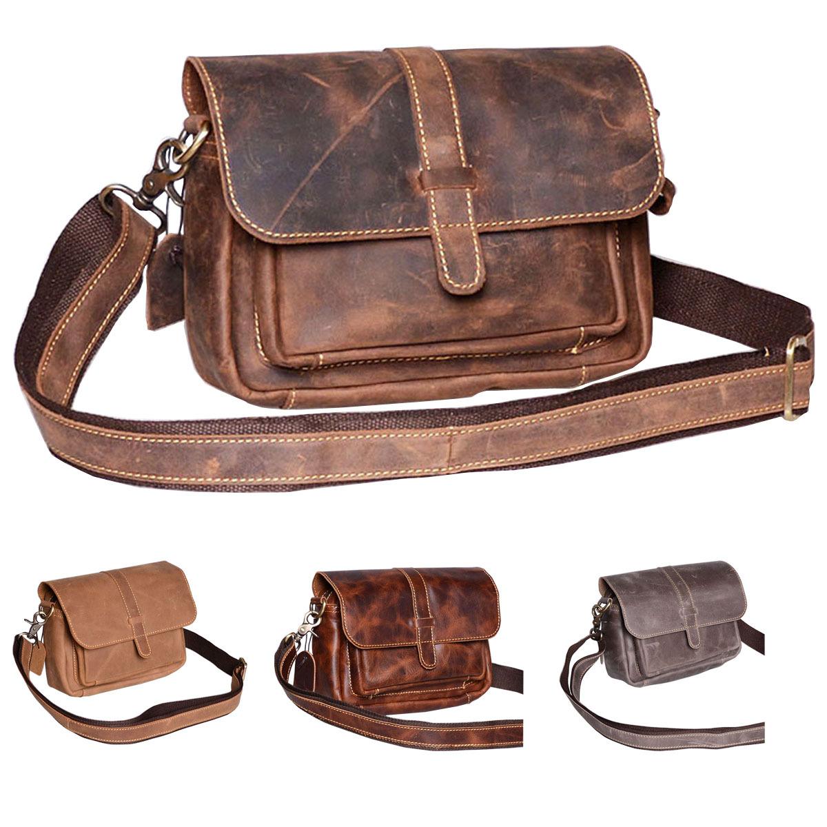 Handmade Retro Buffalo Hunter Leather Laptop Messenger Bag