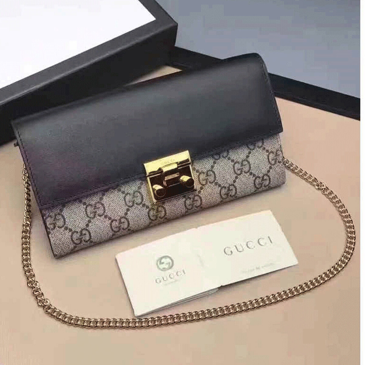 bb8bab07aa7d2f Gucci mini bag Padlock continental gucci wallet china aaa gucci wallet  cheap 453506