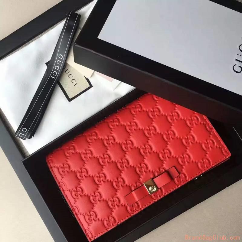 21f9f825242 Gucci GG bag Signature mini women s handbags womens gucci purse signature  431408 red