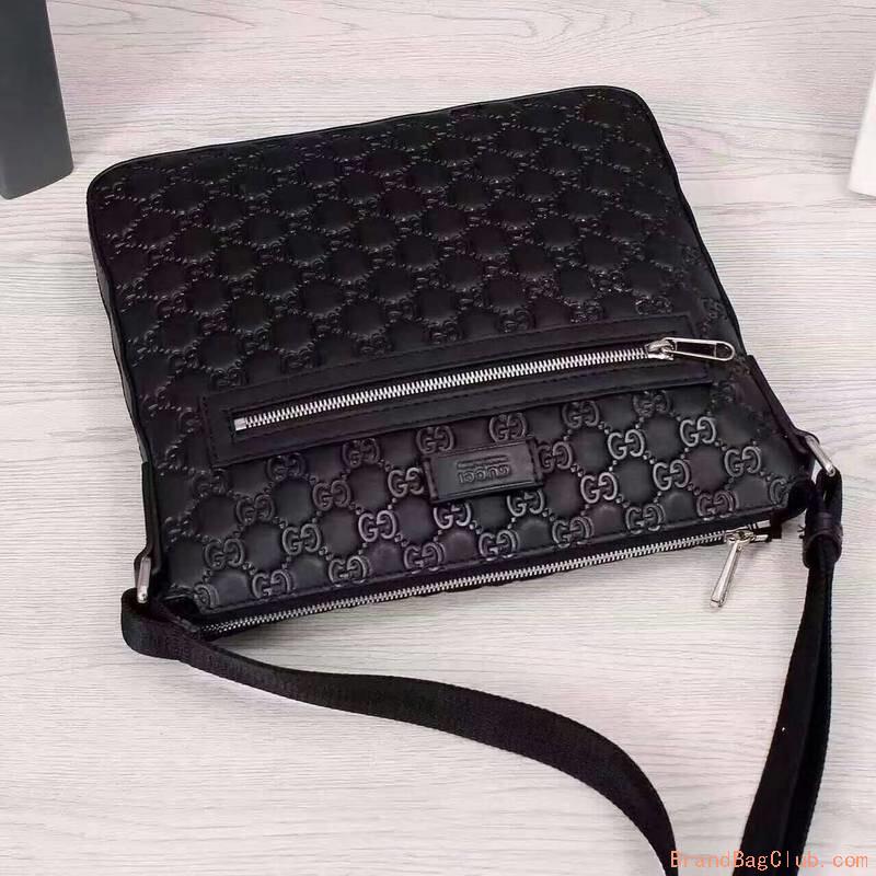 Gucci Gg Crossbody Shoulder Bag Bookbag Mens Gucci Black Leather Messenger Bag Sale Replica