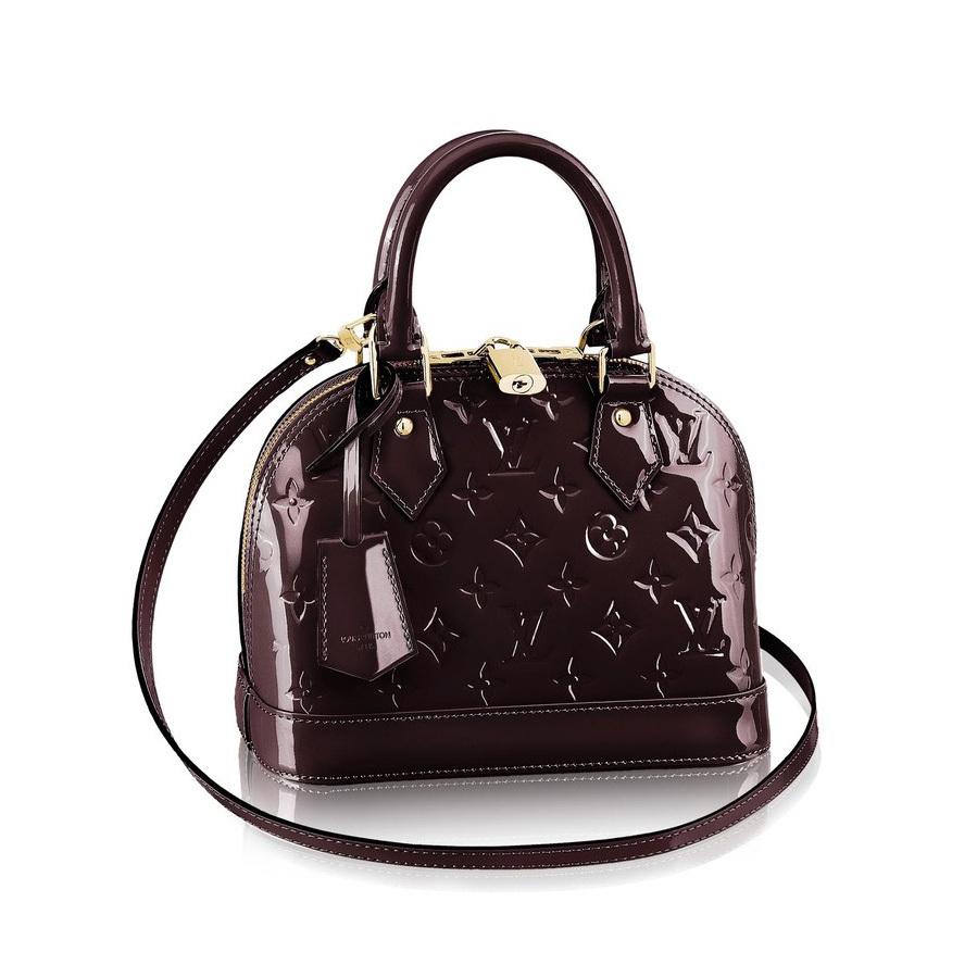 df2a05883a03 LV ALMA BB shoulder bag Louis Vuitton Monogram Vernis Leather Women small  tote handbag Crossbody bag M91678