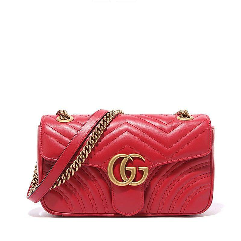 53659842980 Cheap gucci bags gg marmont matelassé shoulder bag medium leather ...