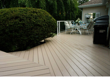Anti-uv waterproof outdoor wpc solid wood plastic composite decking
