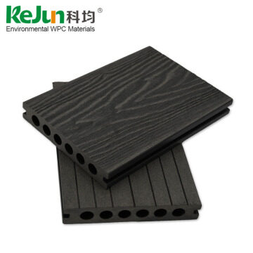 China factory high density outside hollow wood plastic decking