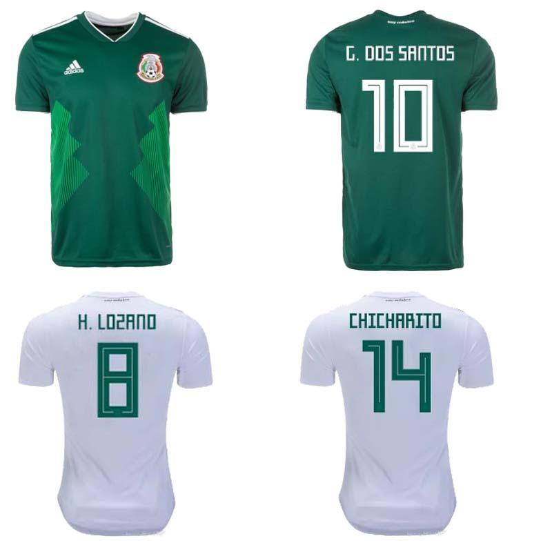 2018 World Cup Mexico home away soccer jersey G.DOSSANTOS C.VELA Home Away  shirt CHICHARITO O.PERALTA football Jerseys 613353f9d