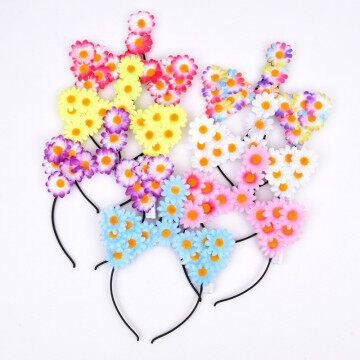LED Floral Headband Unicorn Hair Sticker for Party Gifts for girls  Christmas Headbands,Kids Hair Sticks,Santa Claus