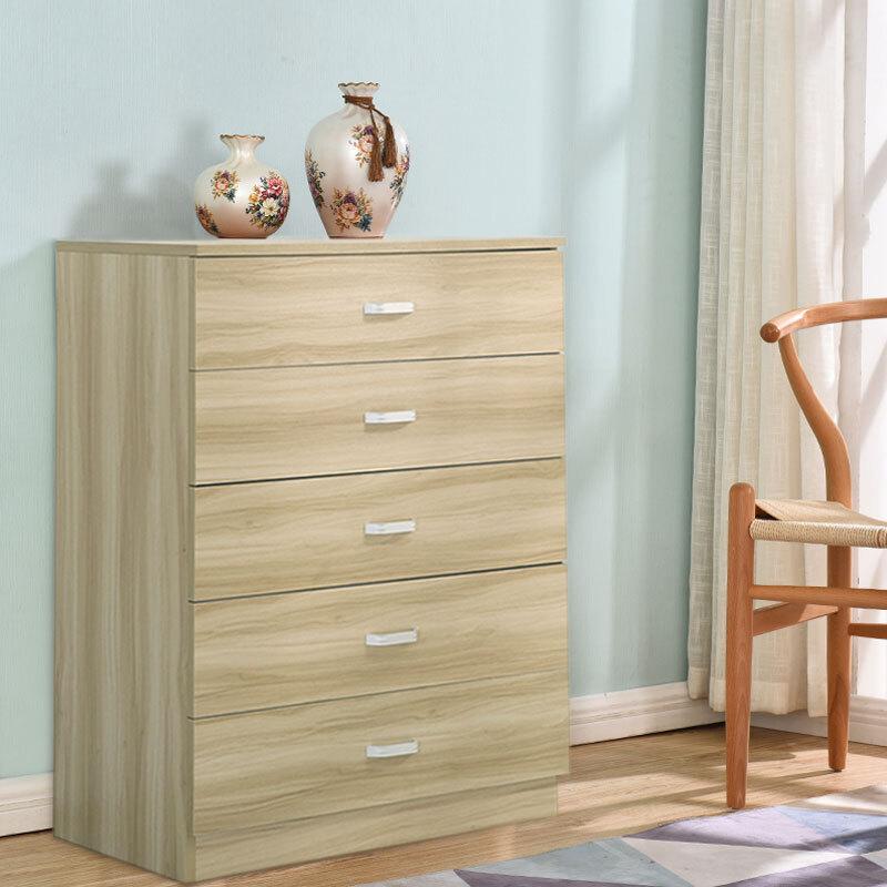 Jm0046 Chest Of 5 Drawers Bedroom Cabinet Storage Bedside Draw Organiser Dressing Table