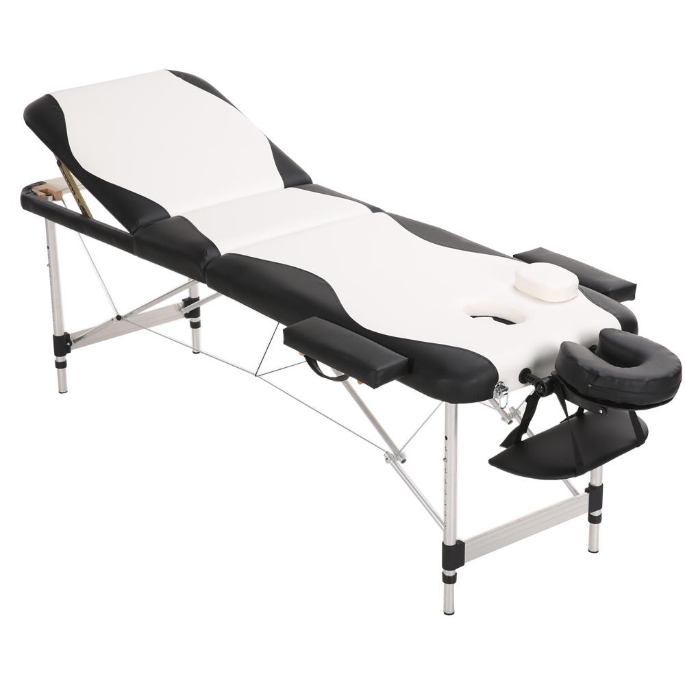 b1f456e15622 HG0197 Portable Folding Aluminium Massage Tables Beauty Salon Tattoo  Therapy Couch Beds