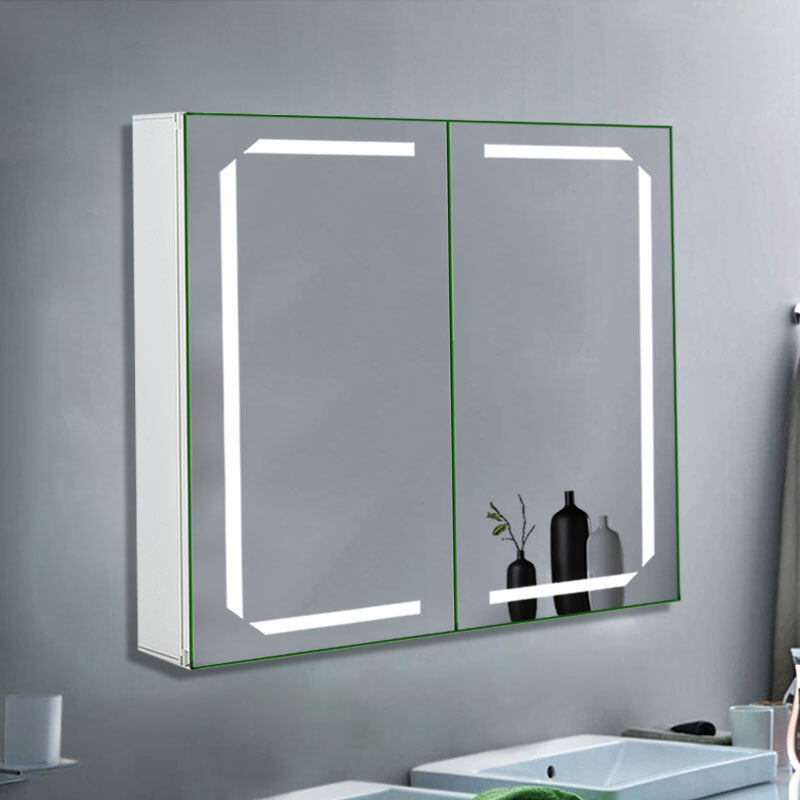 Jm0455 Illuminated Led Bathroom Mirror Cabinet Storage Unit Bluetooth Shaver Demister