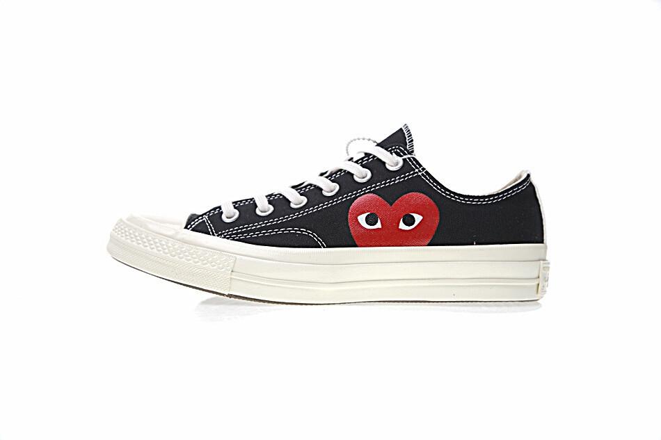 4f31cc70c47e CDG x Converse Chuck Taylor All star Low Shoes Black