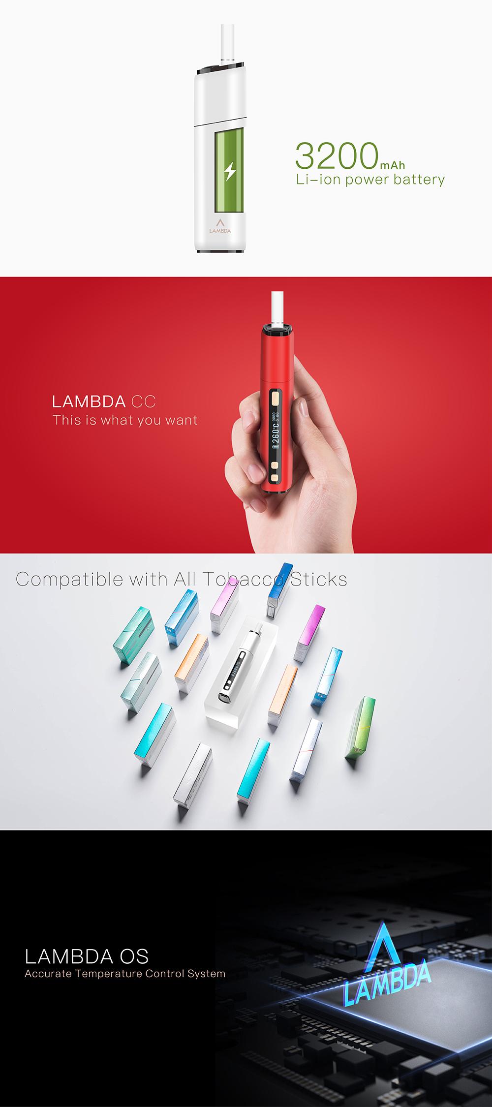 (White) LAMBDA CC OLED HD Display