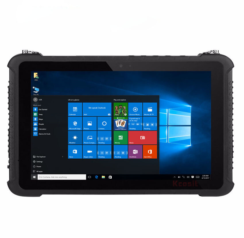 China K16h Rugged Tablet Pc 10 Inch Windows Home Z8350 Ip67 Waterproof Shockproof Android 4g Lte Fingerprint Rs232 Rj45 Gps