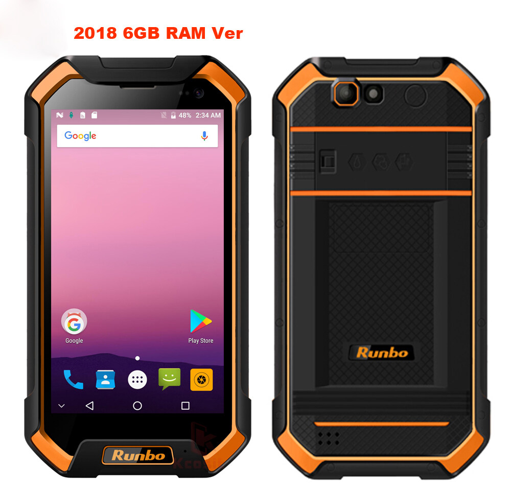 Runbo F1 Plus Android Rugged Phone Waterproof Smartphone 6gb