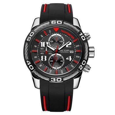 MEGIR 2045 Men's Sports Watch Chronograph Men Quartz Wrist Watches(free shipping) 3